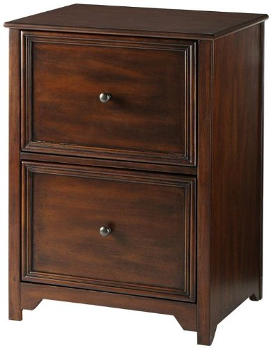 Oxford File Cabinet, 2-DRAWER, CHESTNUT (Wood Traditional Drawer)