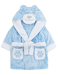 Childrens / Toddlers Novelty Teddy Bear Soft Fleece Dressing Gown ~ 6-24 Month