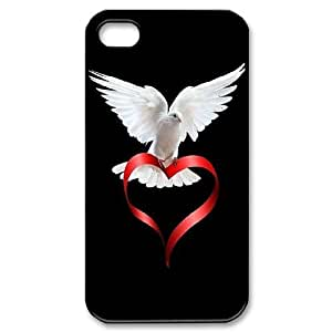 James-Bagg Phone case White dove pattern For Iphone 4 4S case cover FHYY391947