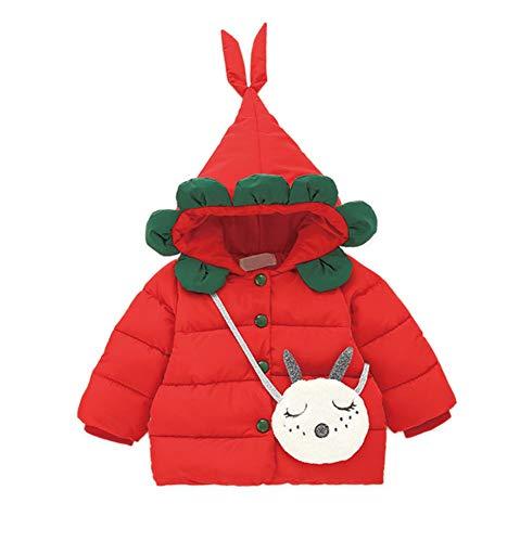Cotone Red Piumino Per Con Cappuccio Ragazze Ispessito Bambini Top Hxp Monopetto Cappotto aPwUqX