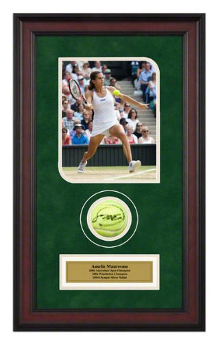 Amelie Mauresmo Autographed Ball Memorabilia - Autographed Tennis Ball Shadowboxes