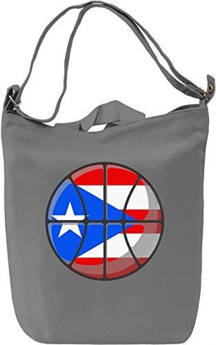 Puerto Rico Basketball Borsa Giornaliera Canvas Canvas Day Bag| 100% Premium Cotton Canvas| DTG Printing|