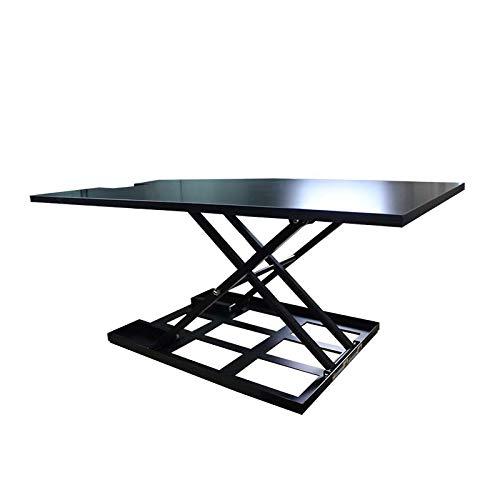 Standing Desk Converter-INNOVADESK 40-24 inches- Basic Height Adjustable Office Desk – Sit Stand Desk Converter -Siting Standing Desk- The Best Standing Desk- Preassembled Desk (Black) Stand Up Desk