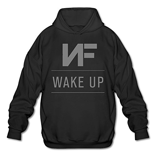 NF Wake Up Logo Hooded Sweatshirt For Men Black