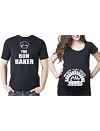 Bun in the oven couple maternity baby shower t-shirts