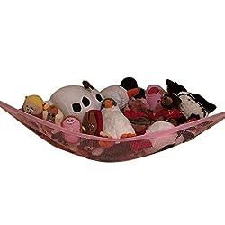 Rosiest 80x60x60cm Toy Hammock Corner Organizer Storage for Puppet PLush Toys Doll Maumet (pink)
