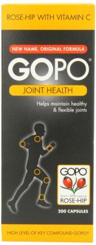 Rose de GOPO articulation de la hanche santé vitamine C Capsules - 200 Capsules, Pack de 1