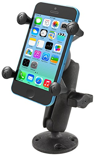 Flat Surface Mount Ram - RAM Mounts (RAP-B-138-UN7U) Composite Flat Surface Mount with Universal X-Grip Cell/Iphone Holder