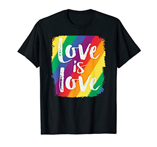 Love Is Love T-Shirt Gay Lesbian LGBT Pride Month Tee