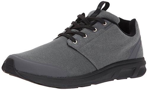 Quiksilver Herren Voyage Textil Sneaker Grau / Grau / Schwarz
