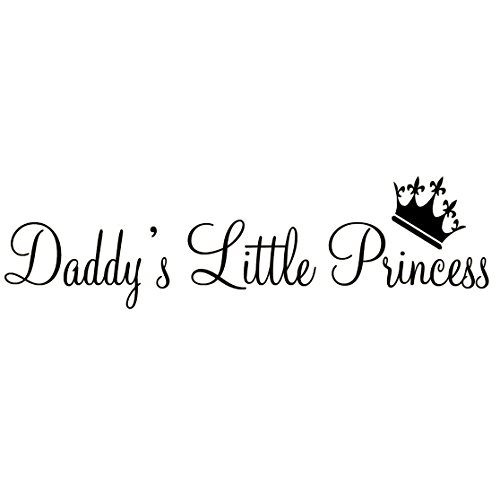 Daddy's Little Princess Nursery Wall Decals Cute Baby Quote Vinyl Wall Art Quotes Nursery Baby Girl Room Decor