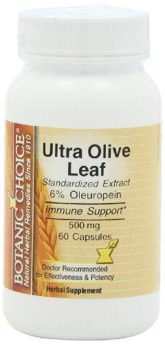 Botanic Choice Ultra Olive Leaf Extract, 500 mg, 60 Capsules by Botanic (Choice Leaf)
