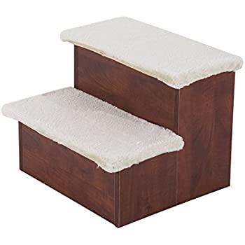 Amazon Com Pawhut Two Step Portable Pet Stairs For Cats