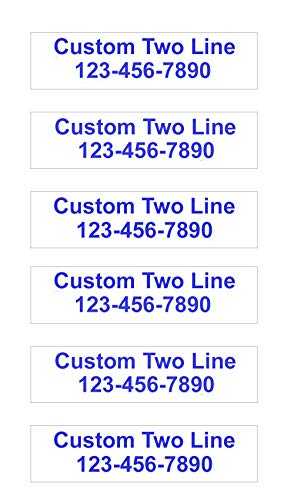 6 Pack Customized Plastic 2-Line Rider Signs - Waterproof Corrugated Plastic - 6