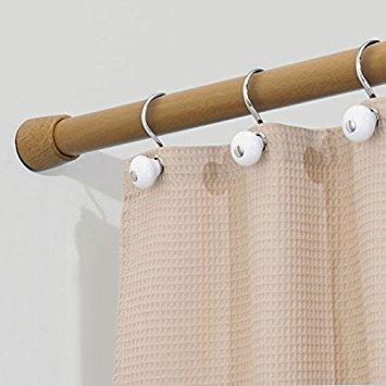 mDesign tringle à rideaux de douche sans perçage - porte-rideau de ...