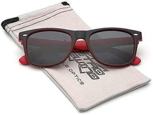 Classic Retro Fashion 2 Tone Sunglasses - Black & ()