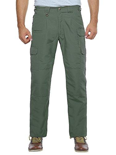 Six Pocket Bdu Pants (Men's Lightweight Rip Stop EDC Tactical BDU Combat Pants Army Green 36)