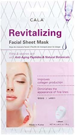 Cala Revitalizing facial sheet mask 5 count, 5 Count