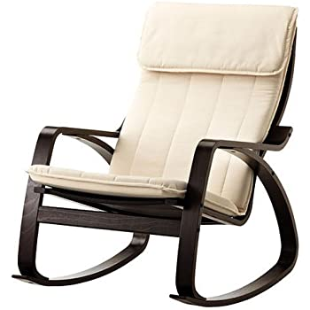 Amazon Com Relax Rocking Chair Black Wood Frame With