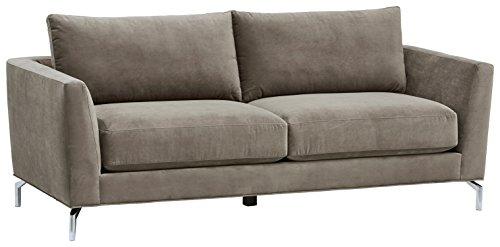 Rivet Emerly Modern Velvet Metal Leg Sofa, 84