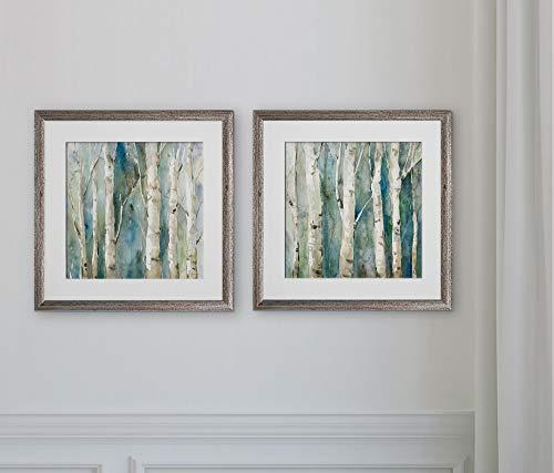 WEXFORD HOME River Birch -2 Piece Set Art Print, 16x16, (Wall Art River Birch)