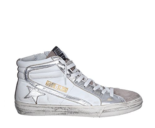 Golden Goose Deluxe Brand Women Slide White Leather Hi Top Sneakers G30WS595F56 (whoosso)