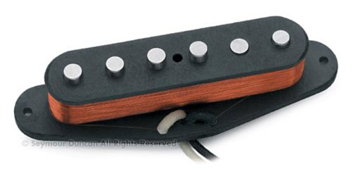 Seymour Duncan SSL-1 Vintage Staggered Strat Single Coil Pickup White 11201-01 w/Bonus RIS Picks (x3) 800315002306