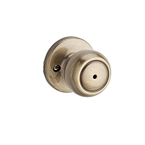 Kwikset 730C 5X26 6AL RCS Copa Privacy Knob in Antique Brass and Polished Chrome