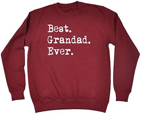 1 Best Grandad Ever Funny Novelty Sweatshirt Jumper Top