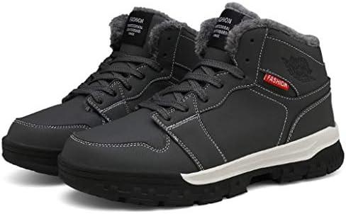 メンズスノーブーツ冬暖かいぬいぐるみブーツアウトドアスポーツハイキングハイトップシューズをウォーキング (Color : Black, Size : 8.5UK)