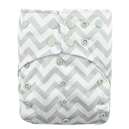 ALVABABY Cloth Diaper One Size Solid Reusable Pocket Nappy With Different Insert