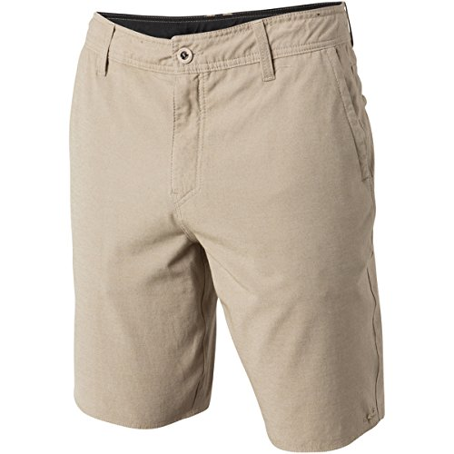 - O'Neill Men's Locked Overdye Hybrid Short, Khaki, 32