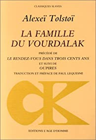 La famille du Vourdalak par Alekseï Konstantinovitch Tolstoï