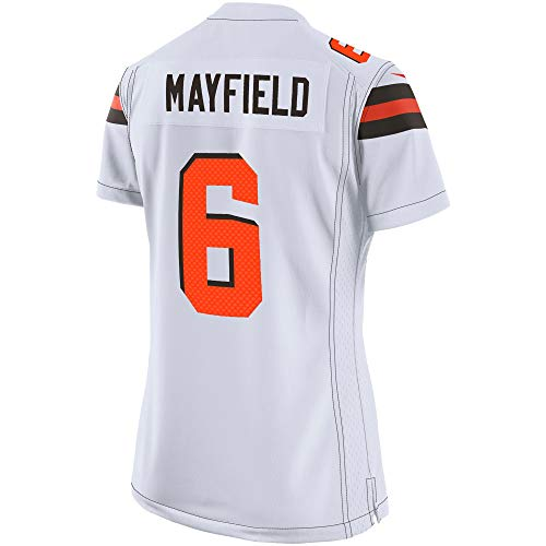 Outerstuff Youth Kids 6 Baker Mayfield Cleveland Browns Jersey (YTH 10-12 M, White)