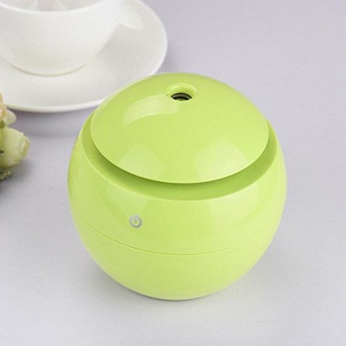 Fabal LED Aroma Ultrasonic Humidifier USB Essential Oil Diffuser Air Purifier for Bedroom (Green)