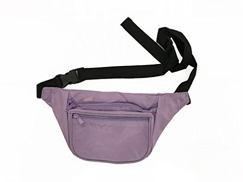 BAM Fanny Pack Waist Bands 80s 90s Style Fashion (Lilac) (Makeup In The 80s)
