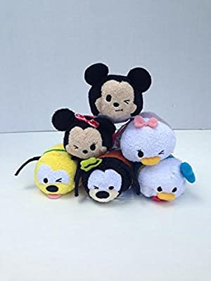 Disney Mickey and Friends Tsum Tsum Set of 6 Include Mickey, Minnie, Daisy, Donald, Pluto and Goofy