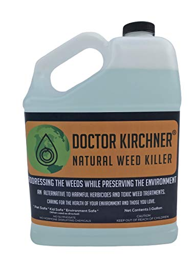 Doctor Kirchner Natural Weed Killer (1 Gallon) Pet and Kid Safe No Glyphosate and No Hormone Disrupting Chemicals