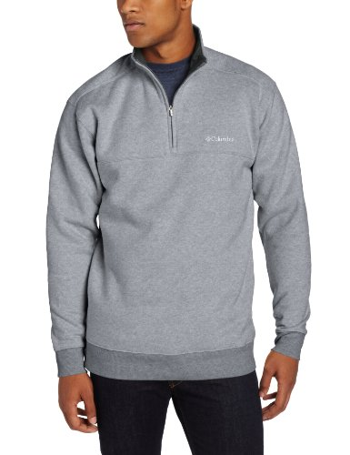 Columbia Men's Hart II 1/2 Zip Jacket, Charcoal Heather, (Mens Fleece Half Zip Pullover)