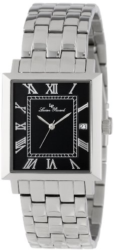 Lucien Piccard Men's LP-10501-11 Bianco Black Dial Stainless Steel Watch, Watch Central