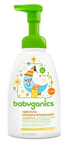 Babyganics Baby Shampoo Body Wash Pump Bottle Orange Blossom 16oz Packaging May Vary