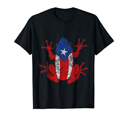 Distressed Puerto Rico Se Levanta Boricua Pride Coqui Shirt