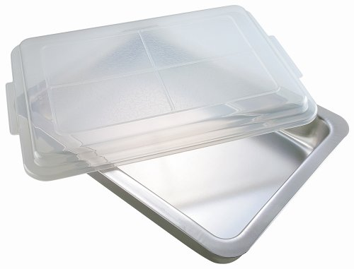 Insulated Jelly Roll Pan - AirBake by WearEver Natural Oblong Baking Pan with Cover