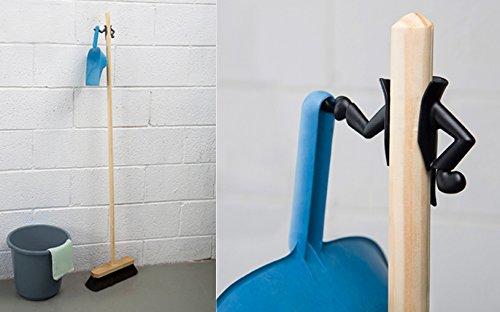 Peleg Design Mr. Brooman Black Dustpan Holder & Broom Hanger (Funny Household compare prices)