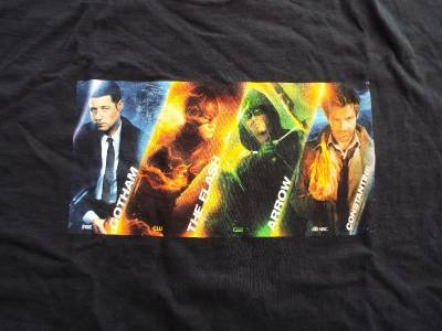 SDCC 2014 Warner Bros PROMO T-Shirt Gotham The Flash Arrow Constantine RARE XL