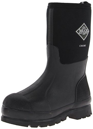The Original MuckBoots Adult Chore Mid Boot,Black,Men's 6 M/Women's 7 M by Muck Boot