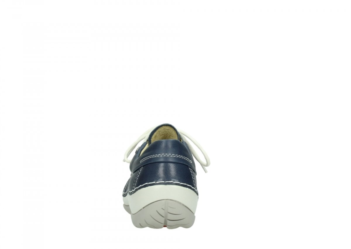 Wolky Damen Leder Schnuerschuhe Azura Weiß Leoa Leder Damen 4805710 weiß 296545 Dunkel-blau ca9a67