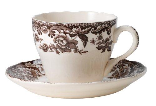 Spode Delamere Teacup and Saucer, Set of 4