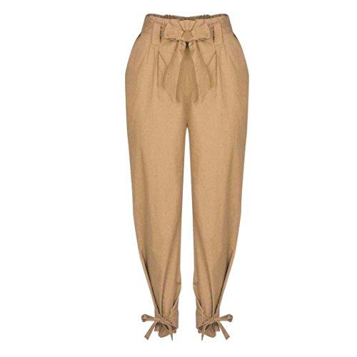 Chic Waist Tempo Inclusa Fashion Pants Libero Primaverile Harem Eleganti Donna Monocromo Khaki Trousers Pantaloni High Pantaloni Pantaloni Estivi Abbigliamento Ragazza Alla Moda Cintura wqYXZSxF