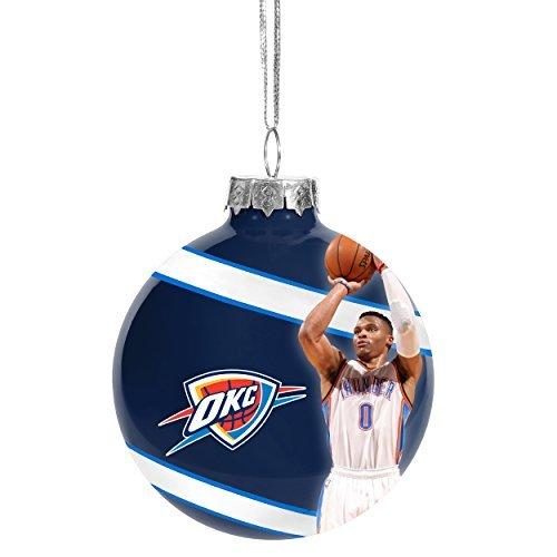 FOCO Oklahoma City Thunder Russell Westbrook #0 Glass Ball Christmas Ornament